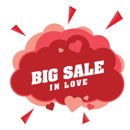 Big Sale In Love Pink Clound Heart Pink Heart Vector Image