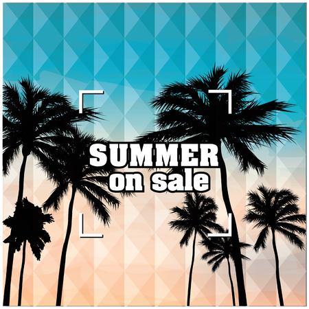 Summer On Sale Beach Focus Background Vector Image