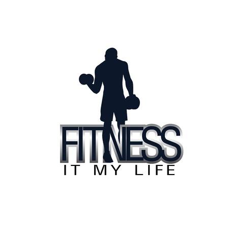 Fitness It My Life Human Gym Background Vector Image Ilustração