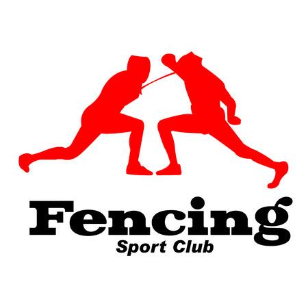 Sport Fencing Sport Club Background Vector Image Illustration