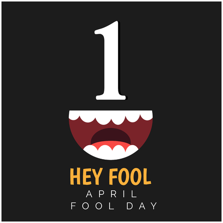 April Fools' Day with a jester mouth illustration
