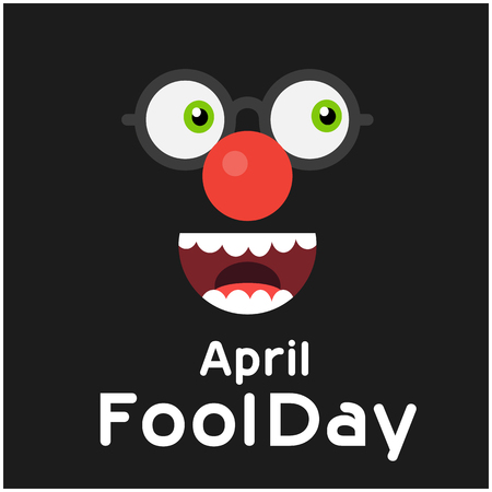 April Fools' Day with a Cartoon Face illustration