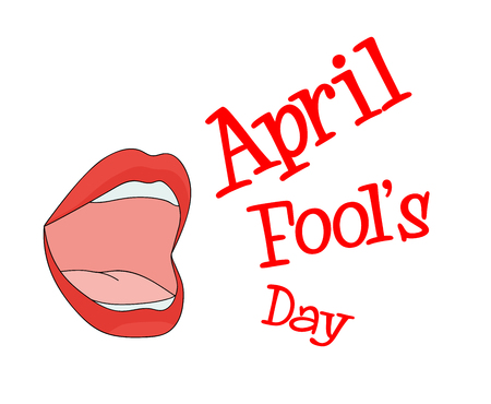 Mouth Speak April Fools Day Illustration