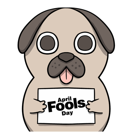 April Fools' Day with a Cartoon Dog Illustration