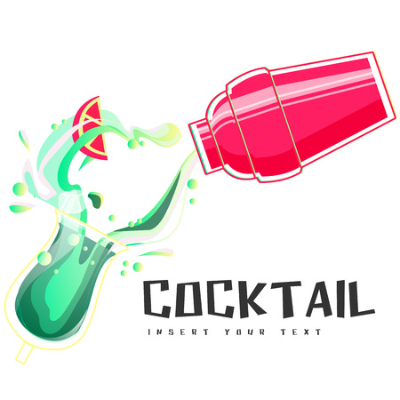 Cocktail Shake Background Vector Image