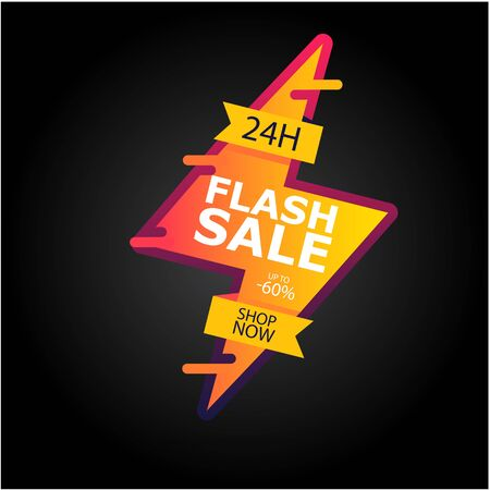 Flash Sale Up To 60% 24H Shop Now Vector Image