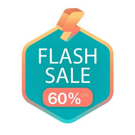 Flash Sale 60% Off Bolt Background Vector Image