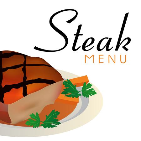 Steak Menu Steak Background Vector Image