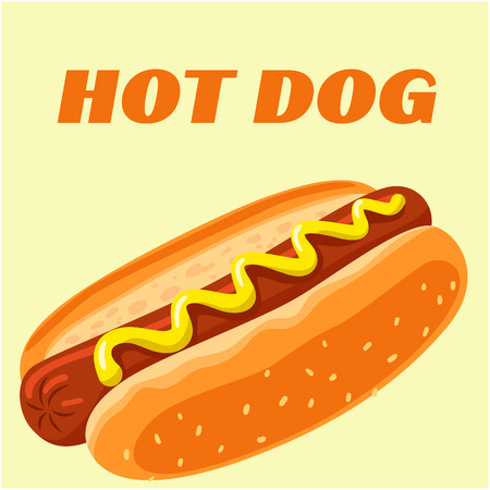 Hot Dog Menu Hot Dog Background Vector Image
