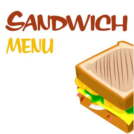 Sandwich Menu Sandwich Background Vector Image Иллюстрация