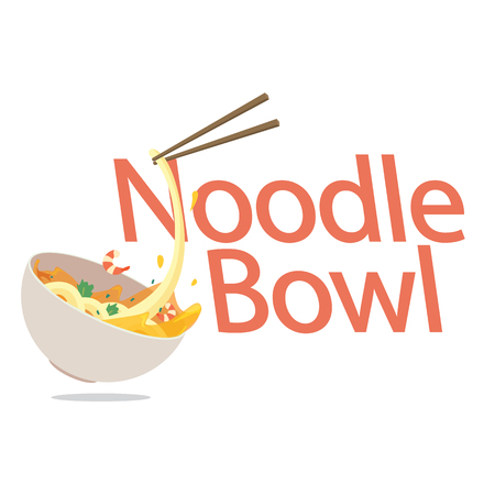 Food Noodle Bowl Background Vector Image 向量圖像