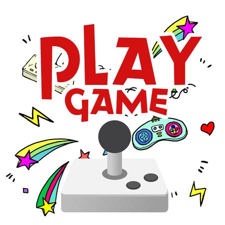 Joystick game console image illustration Illustration