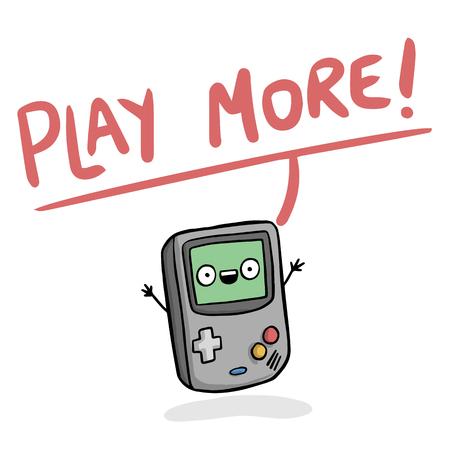 Game device image illustration  イラスト・ベクター素材