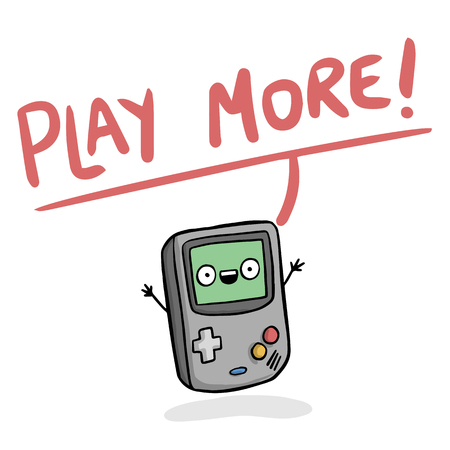 Game device image illustration 矢量图像