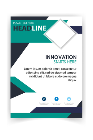 Poster Modern Business Design Template Vector Image 向量圖像