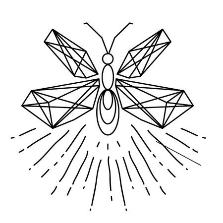 Modern Firefly Tattoo Design Vector Image