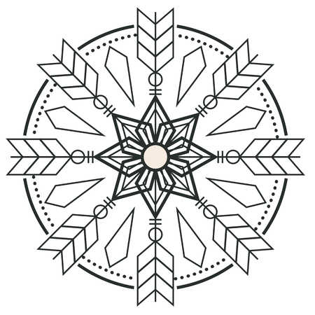 Circle Arrow Design Tattoo Vector Image
