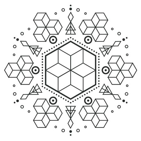 Modern Hexagon Arrow Design Tattoo Vector Image Illustration