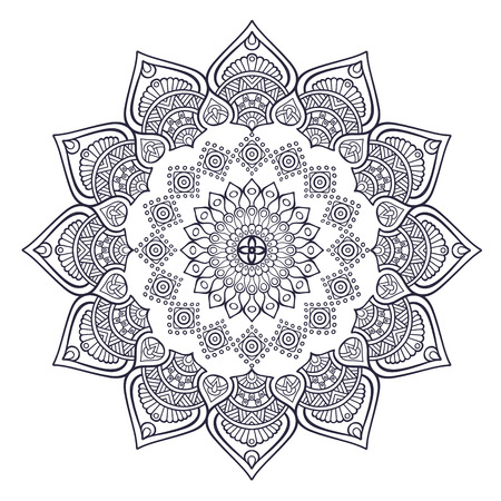 Thai Geometry Abstract Flower Design Tattoo Vector Image