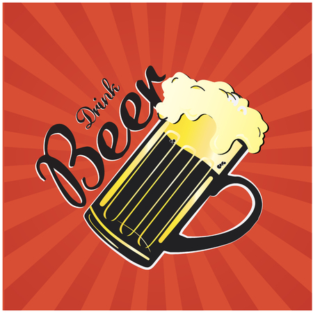 Drink Beer poster Vector Image