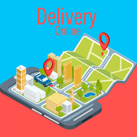 Concept Of Delivery Online Smartphone Background Vector Image