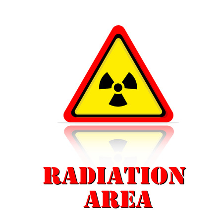 Yellow Warning Radiation Area Icon Background Vector Image