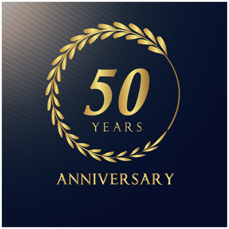 50 Years Anniversary Luxurious Label Vector Image