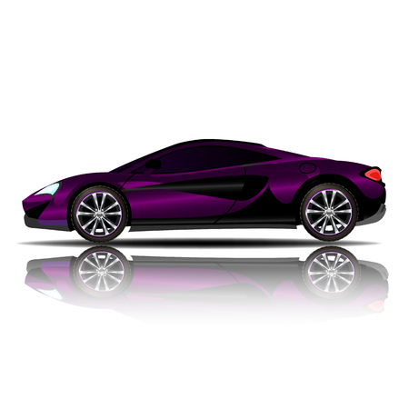Sport Car Purple Color vector illustration