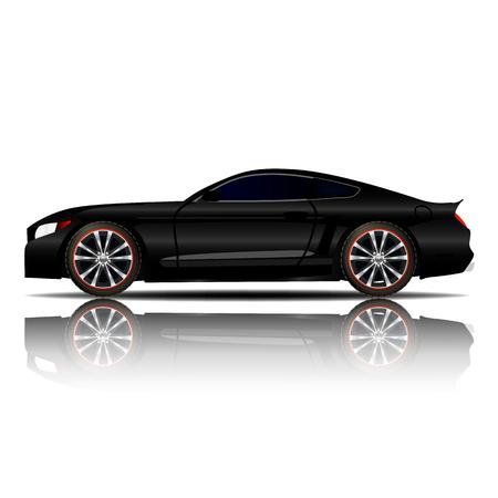 Sport Car Black Color vector illustration