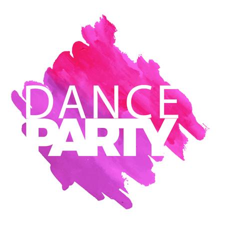 Dance Party Purple Pink Watercolor Paint Background Vector Image Illustration