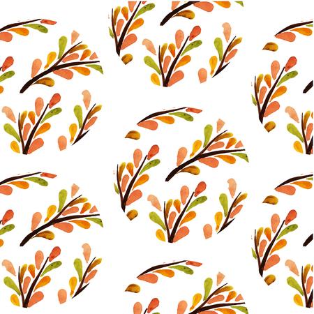 Orange Herbs Leaf Background Vector Image