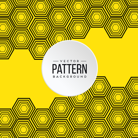 Pattern Yellow Honeycomb Background Vector Image