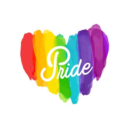 Pride Rainbow Paint Heart Background Vector Image