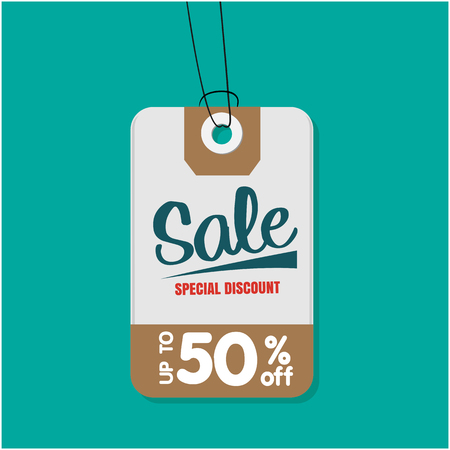Tag Sale Special Discount Up To 50% Off Vector Image