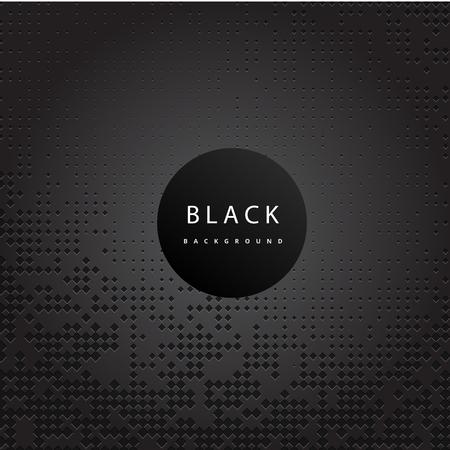 Perforated Black Metallic Pattern Black Background Vector Image