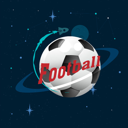 Football Planet Design Space Background