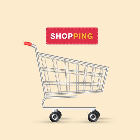 Shopping Logo Cart Design Background Vector Image