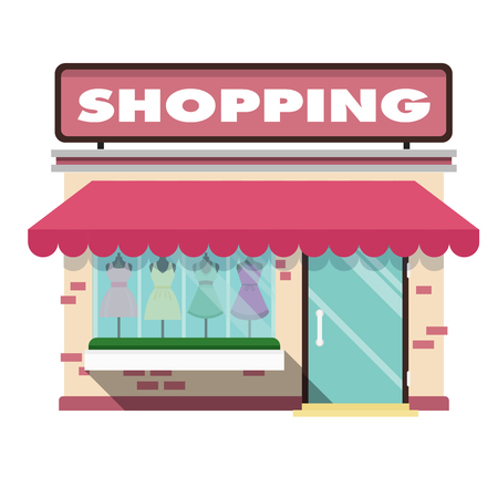 Shopping Infographic Pink Shopping Store Background Vector Image Foto de archivo - 104939245