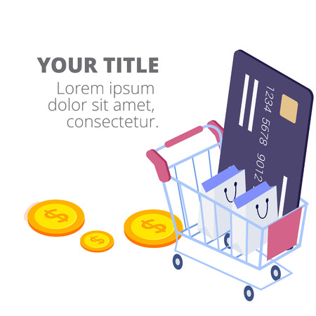 Shopping Infographic Shopping Online Concept Vector Image