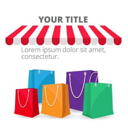 Shopping Infographic Shopping Bag Background Vector Image