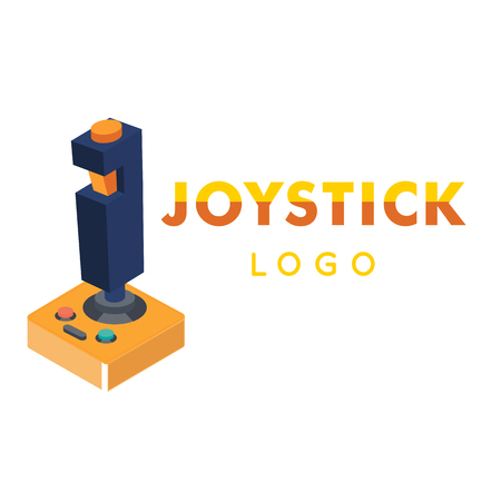 Joystick Logo Retro Joystick Background Vector Image Illustration