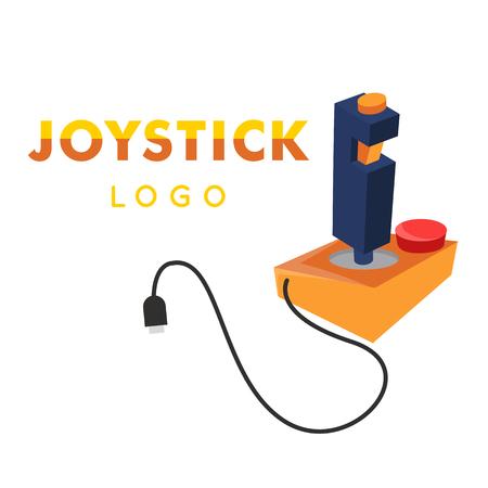 Joystick Logo Yellow Retro Joystick Icon Vector Image Illustration