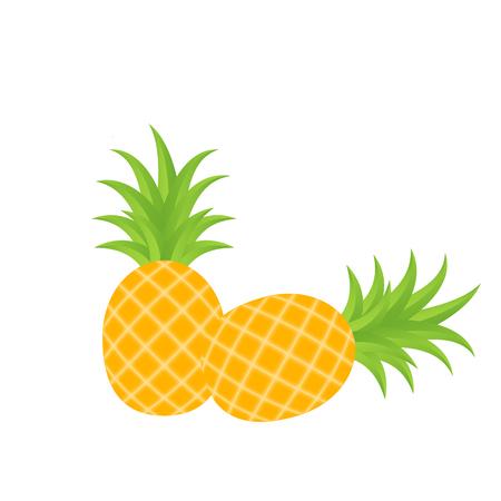 Fruit Icon Pineapple White Background Vector Image 向量圖像
