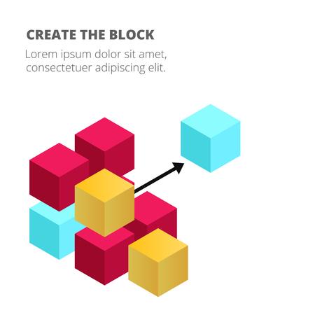 Blockchain Concept Colorful Blockchain Background Vector Image