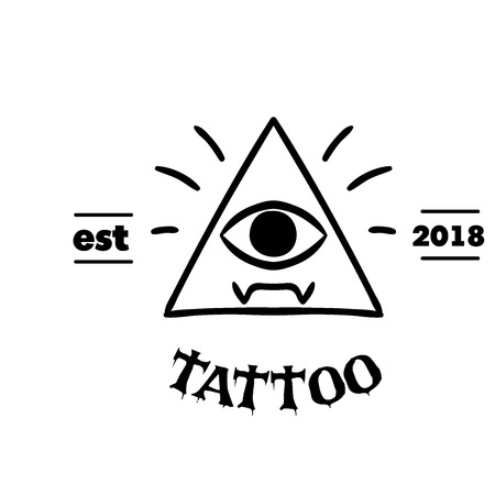 Tattoo Triangle Frame The Eye Background Vector Image