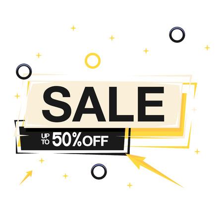 Sale Up To 50% Off Square Frame Background Vector Image Illustration