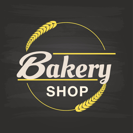 Bakery Shop Malt Circle Frame Background Vector Image Illustration