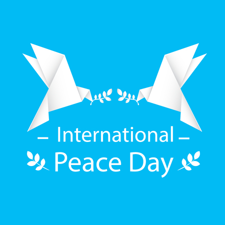 International Peace Day Origami Dove Bird Vector Image