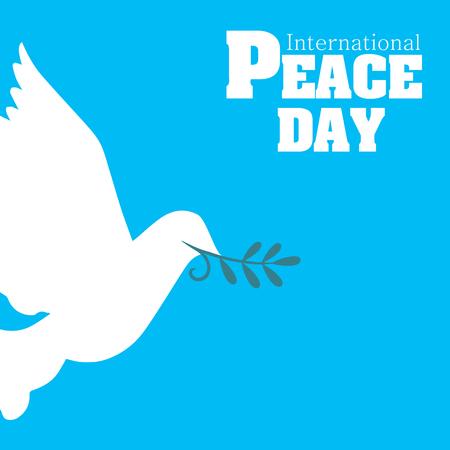 International Peace Day Origami Dove Birds Vector Image Illustration