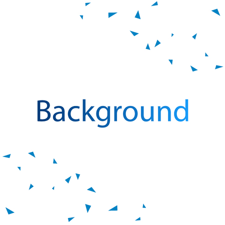 Modern Blue Triangle White Background Vector Image Illustration